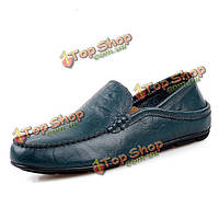 Мужчины мягкой кожи формальная обувь скольжения на бизнес обувь повседневная обувь для вождения