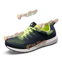 Новые люди случайные сетки спорт работает дышащий плоский зашнуровать на открытом воздухе спортивная обувь