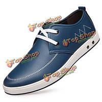 Мужчины зашнуровать мягкие кожаные полуботинки мягкой подошве формальных бизнес обувь