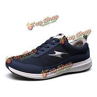 Мужчины зашнуровать дышащей спортивной обуви на открытом воздухе ходьба спортивная обувь
