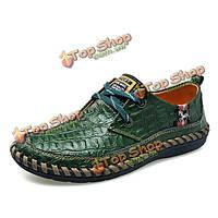 Мягкой кожи крокодила шаблон дышащие оксфорды зашнуровать формальная обувь