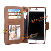 Genuuine кожаный чехол флип бумажник карты сумка крышка телефона для Apple iPhone 6 6s плюс