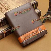 Искусственная кожа мужской удобный классический кошелек наличных денег визитной карточки кредита бумажника