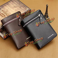 Hengsheng мужской кошелек из искусственной кожи с отделениями для кредитных ID карты и т.д.