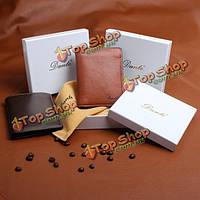 Данте брендовые мужские натуральная кожа короткие бумажник мягкая головка слой коровьей кожаный кошелек