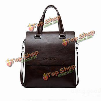 Европейский стиль кожаный полиэстер-подкладка застежки-молнии 14-дюймовый ноутбук сумка сумка