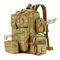 Мужчины нейлон водонепроницаемый многофункциональный емкость Тактический рюкзак на открытом воздухе путешествие туризм сумка