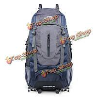 Мужчины женщины нейлон водонепроницаемый 60л открытый спортивный альпинизм плечи сумка рюкзак