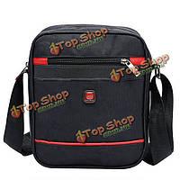 Мужчины наружная хлопчато-бумажная ткань случайное деловое спортивное плечо сумка через плечо