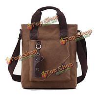Мужской брезентовый досуг компьютер документов сумки через плечо вручает сумку