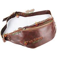 Мужчины винтажном стиле сумка на плечо пу напольного отдыха груди пакет