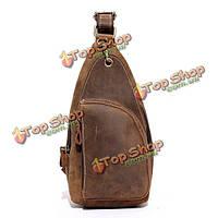 Мужчины натуральная кожа Кроссбоди сумка ретро досуг дорожная сумка на плечо