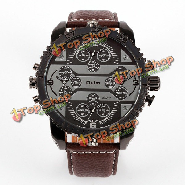 Часы мужские наручные кварцевые Oulm 3233 - ➊TopShop ➠ Товары из Китая с  бесплатной доставкой в bd6b1d00d47