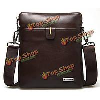 Мужская кожаная сумка Messenger на молнии вертикальная деловая сумка