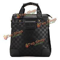 Мужская черная коричневая бизнес-сумка плеча Диагональ пакет мешок