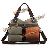 Мужские винтажные холст плечо сумка crossbody сумка