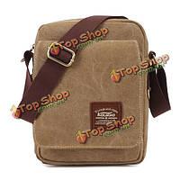 Холст плеча мужчин kaukko маленькая ретро сумочка черная зеленая сумка цвета хаки через плечо