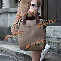 Брезентовый посыльный мужчин kaukko горная сумочка школы путешествия сумки на длинном ремне через плечо