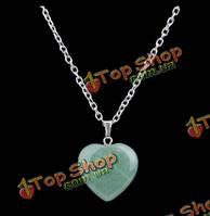 Любовь в сердце природного камня бирюза кулон обаяние ожерелье цепи