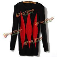Заклинание кожаный рукав плеча алмазный рекреационных свитер