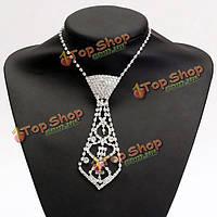 Горный хрусталь кристалл шеи галстук ожерелье для выпускного бала