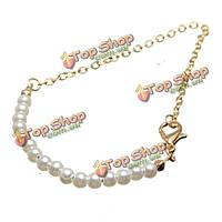 Простое жемчужное Золотая цепочка нитка браслет для женщин