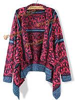 Женщины свободно длинный рукав вязаный свитер кисточка ретро кардиган шаль