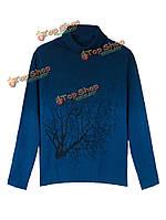 Женщин кашемировые водолазки отраслевая структура градиент цвета свитер
