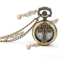 Старинная пустота пересекает аналог ожерелья цепи годные для лиц обоего пола карманные часы
