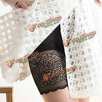 Плюс размер женщин летом удобные кружева дышащие шорты безопасности высокие эластичные трусики