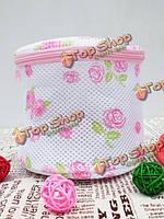 Роза печати бюстгальтер стирка одежды хранение мешок упаковки