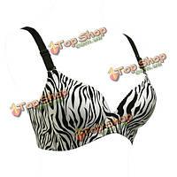Зебра полоса росту Глубокий V сексуально бесшовные бюстгальтеры собрать для ныряния