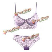 Плюс размер до F женщин чашки ультра тонкие сексуальные кружева вышивки бюстгальтеры дышащая белье