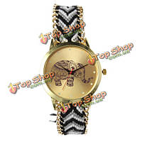 Женщины золотой цвет сетки из нержавеющей стальной ленты кварцевые часы