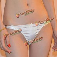 Бесшовные белые трусики-стринги для женщин