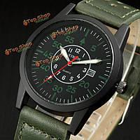 XINEW открытая дата спорта круглый циферблат пу кожаный ремешок кварцевые часы военные наручные часы