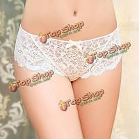 Acousma женщин Plus размер XXL сексуальные кружева бесшовные отвесные белые трусики трусы нижнее белье