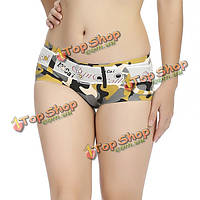 Сексуальная 3d камуфляж напечатаны бесшовные дышащие трусики удобные нижнее белье для женщин