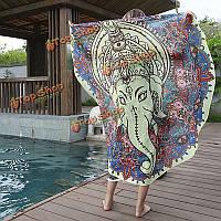 Коврик на пляже печать бросить полотенце шали стене висит гобелен Yoga женщины круглые