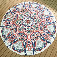 Коврик на пляже печать бросить полотенце шали стене висит гобелен Yoga 145см богемы индийский цветочный круглый