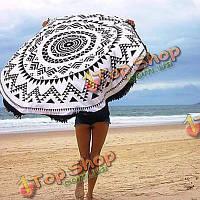 Пляжное круглое полотенце 150см