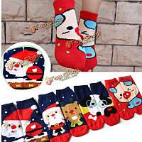 Женщины девушка Рождество Санта-Клаус ватки собака носки чулочно-носочные изделия чулок