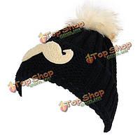 Женщины девушка усы вышивка трикотажные шапочки фетровую шляпу мех кролика мяч вяжет
