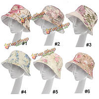 Женщины леди Boonie цветок ведро шляпа солнца пляжа флоппи рыбалка летний туризм крышка