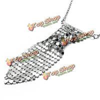 Серебряный галстук галстук форменный свитер цепи ожерелье для женщин