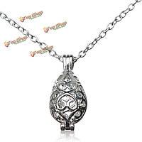 Серебряные полые Медальон духи Aroma диффузор ожерелье