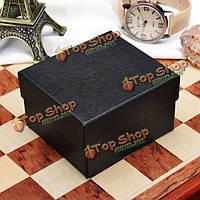 Черный синий квадрат жесткого картона бумаги ювелирные изделия наручные часы коробки