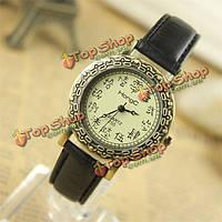 Hongc225 старинный элегантный женщин oracle шаблон кожа кварцевые часы