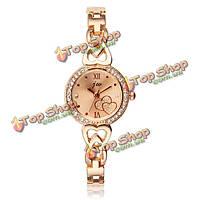 JW-3480 модные женщины сердце картины круглый циферблат из нержавеющей стали кварцевые часы браслет