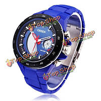 Подруги ad2802 пластик черный синий спорт круглые кварцевые наручные часы для мужчин